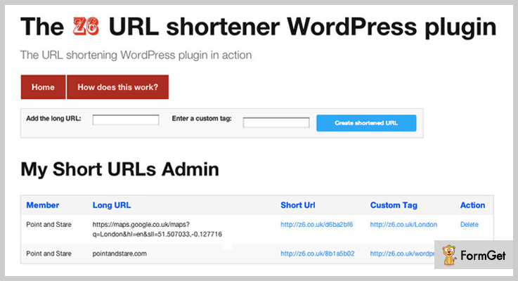Z6 URL WordPress URL Shortener Plugin
