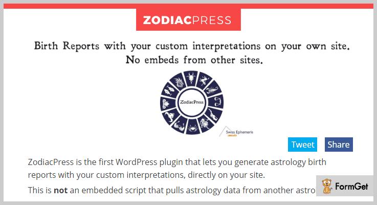 ZodiacPress WordPress Astrology Plugin