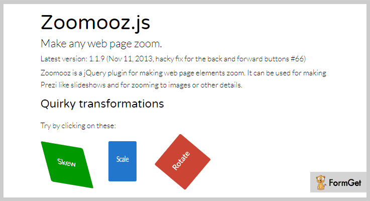 ZoomoojQuery Image Zoom Plugins