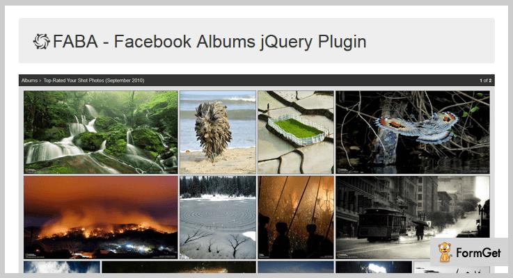 FABA jQuery Facebook Plugins