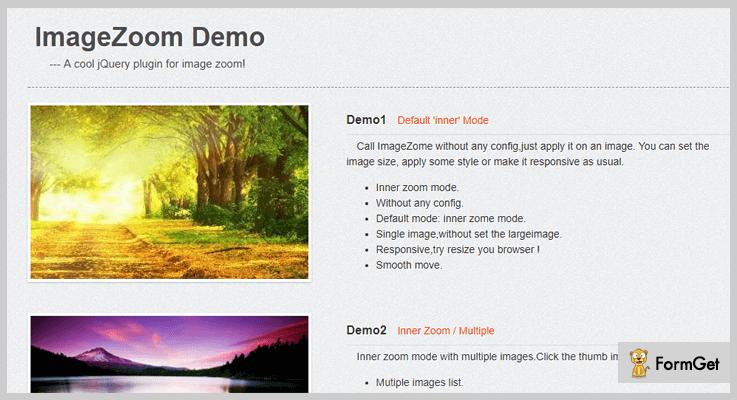ImageZoom jQuery Magnifier Plugin