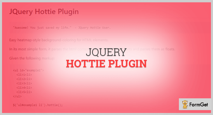 JQuery Hottie Heatmap Plugin