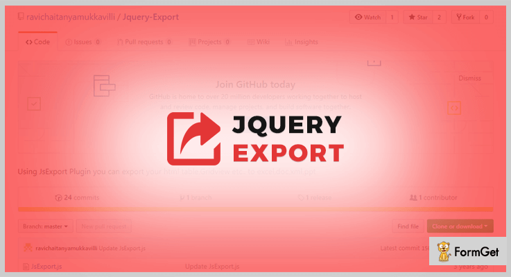 JQuery Export To Excel Plugin