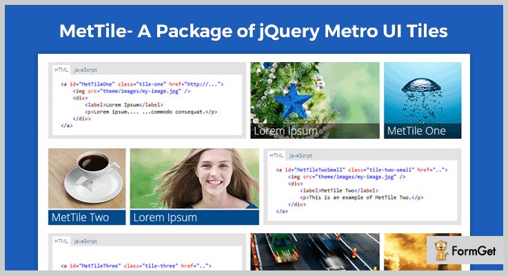 MetTile Tiles jQuery Plugins