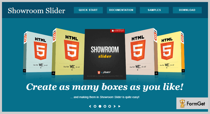 Showroom Slider jQuery 3D Effect Plugin