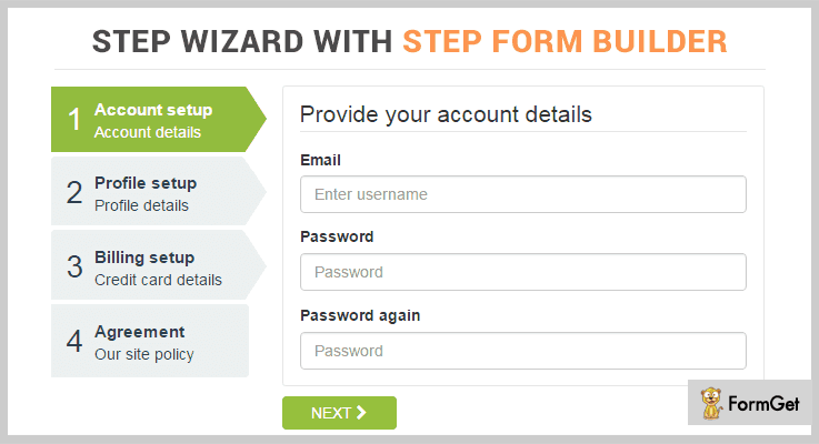 Timon Step Form jQuery Form Wizard Plugins