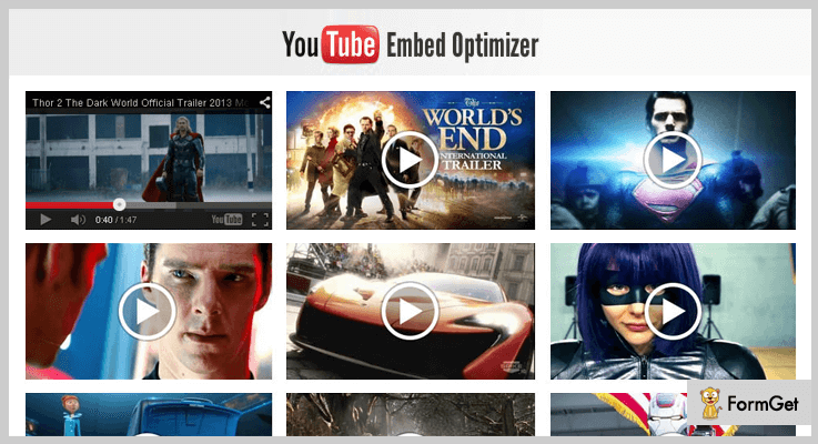 YouTube Embed Optimizer Youtube jQuery Plugins