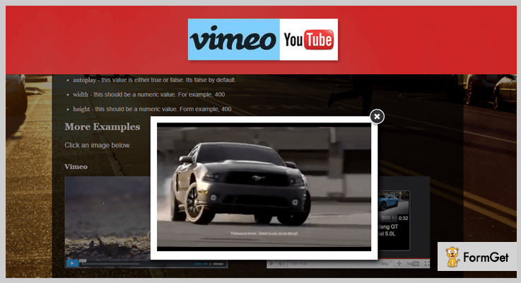 Youtube Vimeo Popup Plugin Youtube jQuery Plugins