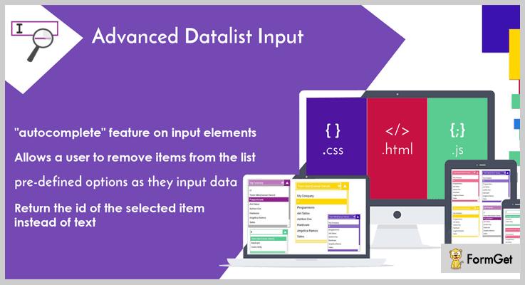 Advanced Datalist Input jQuerry Plugin