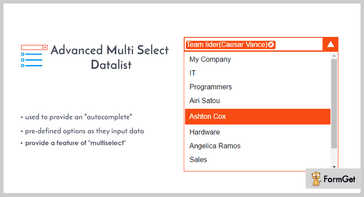 Advanced Multi Select Autocomplete jQuery Plugin