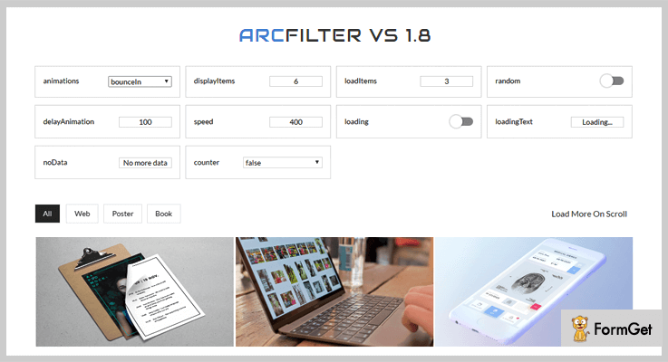 Arcfilter jQuery Sorting Plugins