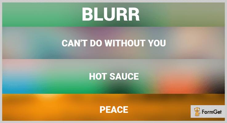 Blurr jQuery Blur Plugin