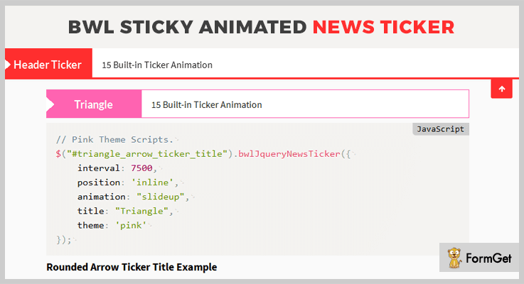 BWL Sticky News Feed jQuery Plugin