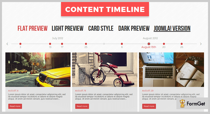 Content Timeline jQuery Timeline Plugin