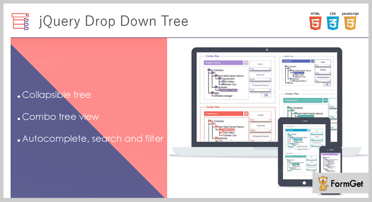 Drop Down Tree jQuery Tree View Plugin