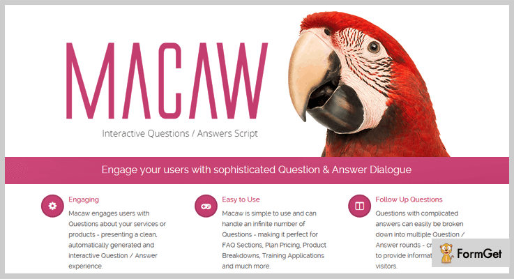 FAQ Macaw FAQ jQuery Plugin