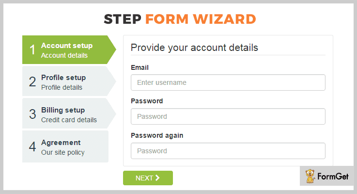 Step Wizard Form Builder jQuery Plugins