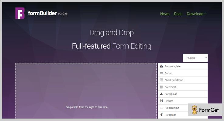 formBuilder Form Builder jQuery Plugins