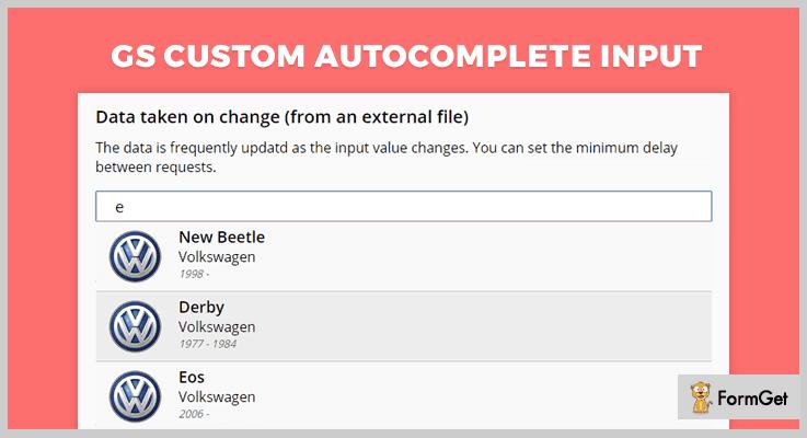 GS Custom Autocomplete Input jQuery Plugin