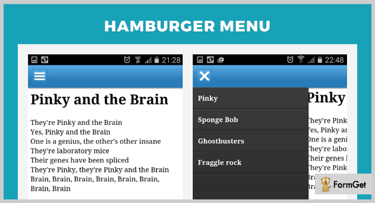 Hamburger Menu jQuery Hamburger Button Plugin