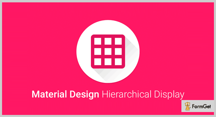 Hierarchical Display Material Design jQuery Plugin