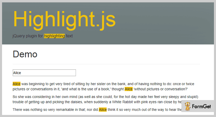 Highlight JS jQuery Text Highlighter Plugin