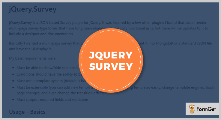 jQuery Survey Survey jQuery Plugins