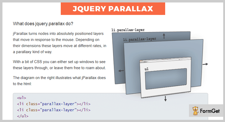 jparallax jQuery Parallax Plugin