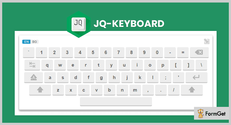 jqKeyboard jQuery Virtual Keyboard Plugin