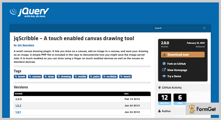 jqScribble jQuery Drawing Plugin
