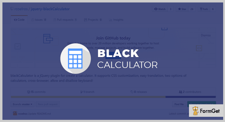 jQuery blackCalculator Calculator jQuery Plugin