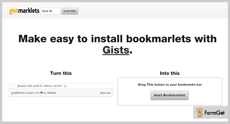 Bookmarklet Helper jQuery Bookmark Plugin