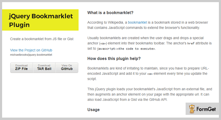 Bookmarklet Plugin jQuery Bookmark Plugin