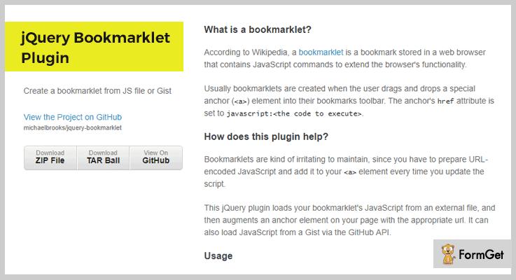 Bookmarklet Plugin jQuery Bookmark Plugin
