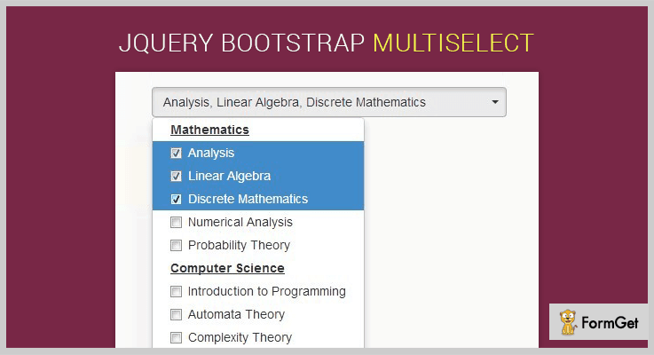 jQuery Bootstrap Multiselect jQuery Multiselect Plugin
