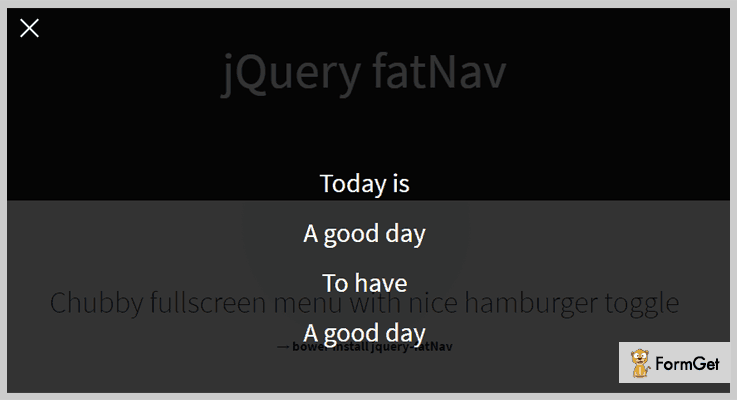 jQuery fatNav jQuery Hamburger Button Plugin