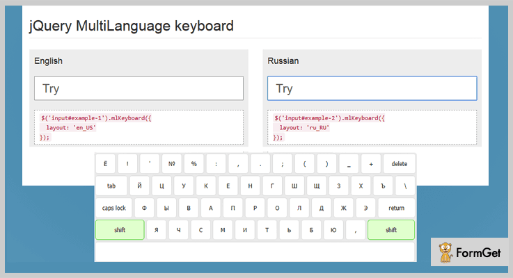ML Keyboard jQuery Virtual Keyboard Plugin