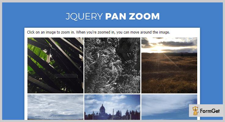 jQuery Pan Zoom jQuery Image Pan Plugin
