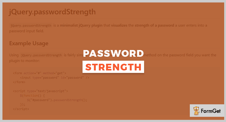 jQuery.passwordStrength jQuery Password Strength Plugin
