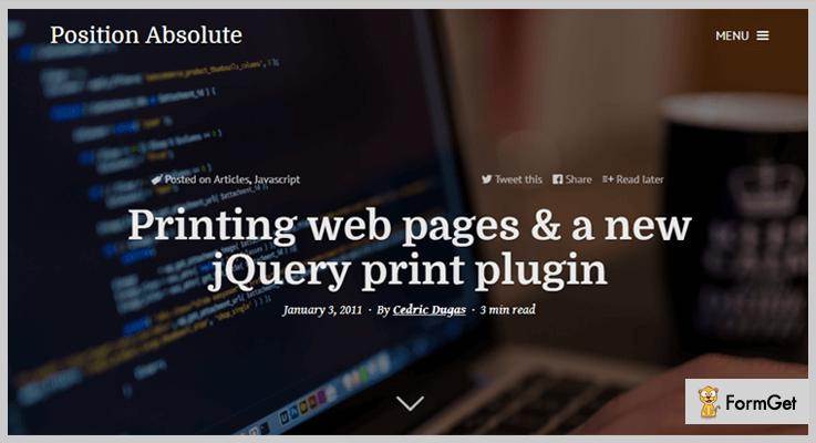 jQuery Print Page Plugin