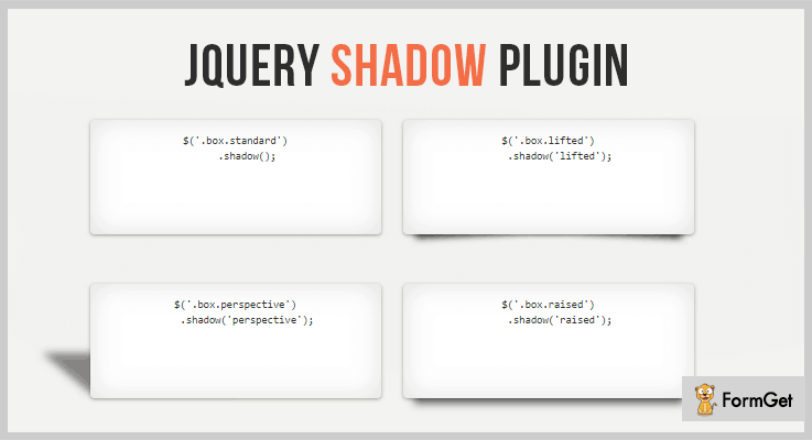 jQuery Shadow jQuery Text Shadow Plugin