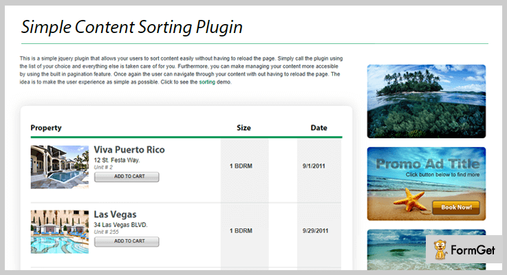 jQuery Simple Content Sorting jQuery Sorting Plugins