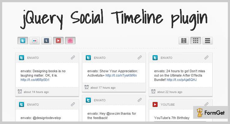 jQuery Social Timeline jQuery Timeline Plugin