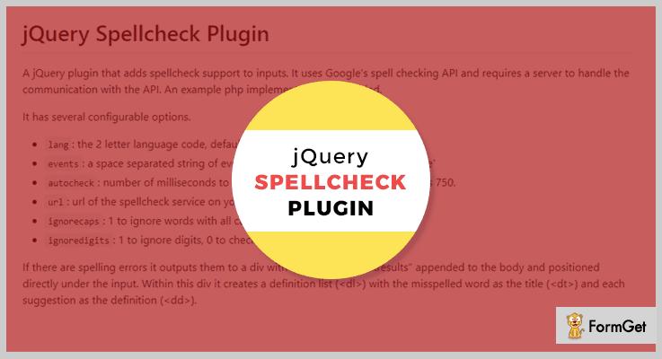 jQuery Spellcheck Plugin jQuery Spell Checker Plugin