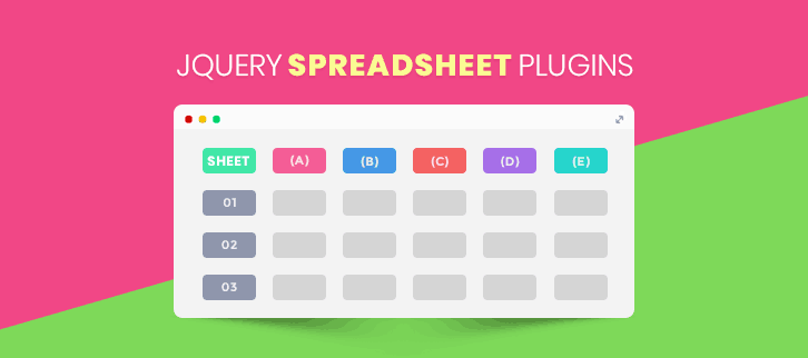 4+ Free jQuery Spreadsheet Plugins 2019 |FormGet