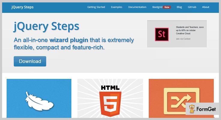 jQuery Steps PluginjQuery Wizard Plugin