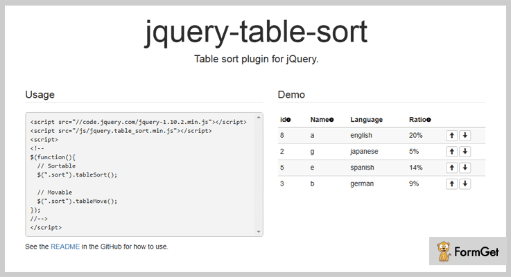 jQuery Table Sort jQuery Table Sorting Plugin