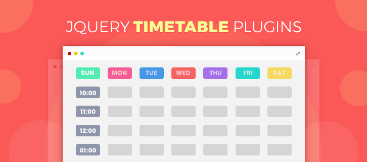 4 jQuery Timetable Plugins 2019 (Free and Paid) | FormGet