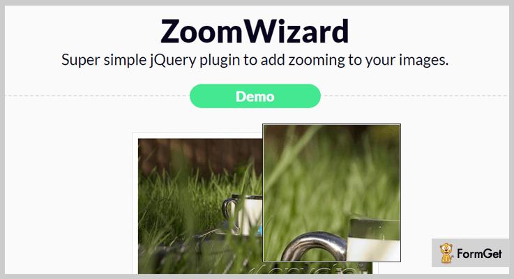 JQuery Zoom WizardjQuery Plugin