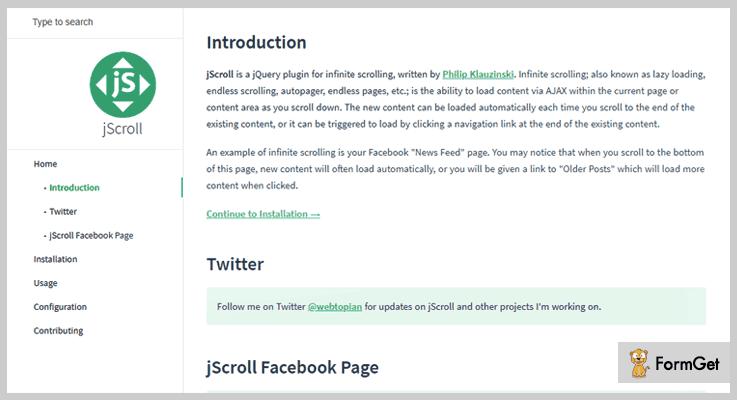 jScroll Infinite Scroll jQuery Plugin